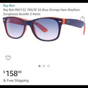Ray Ban New WayFarer RB 2132 Orange/Blue